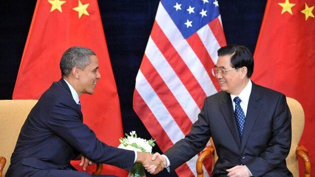 President Barack Obama shakes hands with Chinese President Hu Jintao before the G20 summit in Seoul last November.