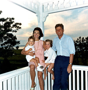 President Kennedy and his family, in Hyannis Port on Aug. 4, 1962.