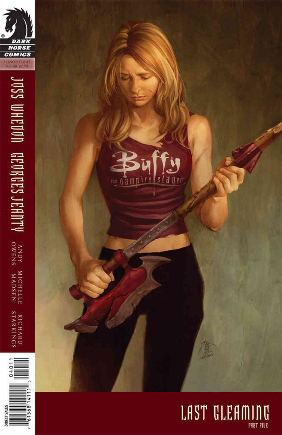 Scythe Matters: Cover of Buffy the Vampire Slayer #40