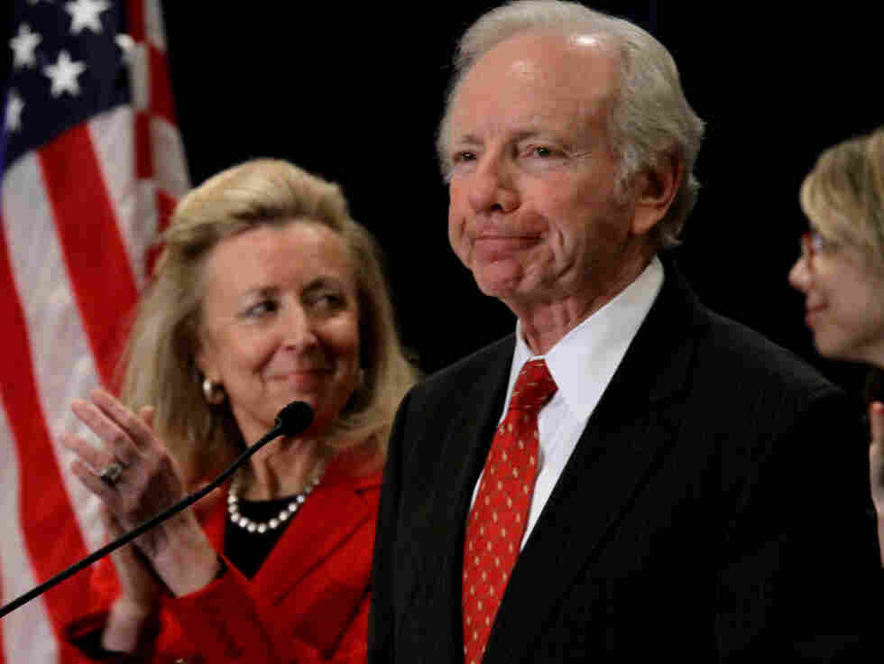 Sen. Joe Lieberman pauses as he announces that he has decided to not seek a fifth term in 2012.