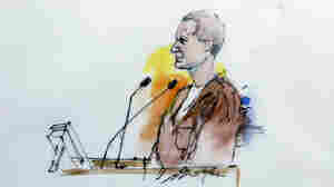 In this artist's sketch, Jared Loughner makes his first court appearance in Phoenix, Jan. 10.