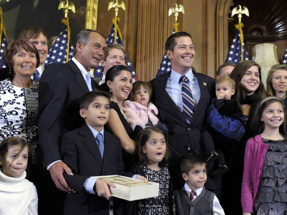 Rep. Sean Duffy and family with House Speaker John Boehner at a swearing in ceremony, January 5, 2010.