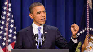 President Obama, shown during a Dec. 22 news conference, will focus largely on achieving economic recovery during the State of the Union, says press secretary Robert Gibbs.