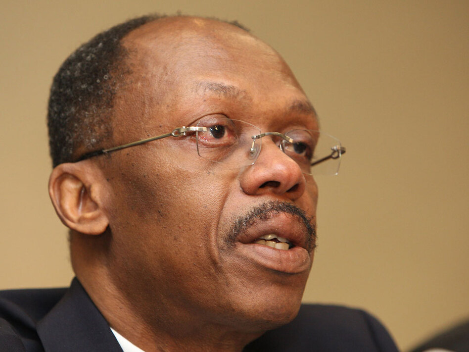 Exiled former  Haitian President Jean-Bertrand Aristide, shown speaking at a news conference in  Johannesburg,  South Africa, last week, has said he is ready to return to his quake-devastated country.