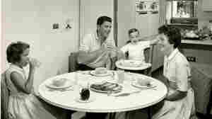 The Reagan family gathers at the breakfast table in 1960. Their kitchen was stocked with General Electric gadgets, thanks to Reagan's hosting gig on GE Theater.