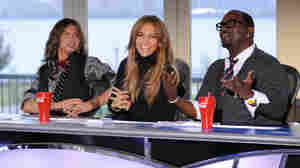 Judges Steven Tyler, Jennifer Lopez and Randy Jackson.
