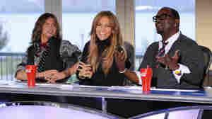 Judges Steven Tyler, Jennifer Lopez and Randy Jackson.