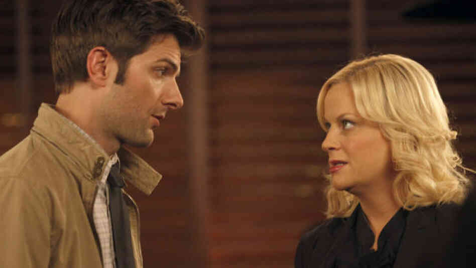 Adam Scott and Amy Poehler star in tonight's return of Parks & Recreation.