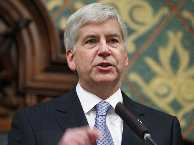 During Wednesday's state-of-the-state speech, Gov. Rick Snyder proposed a flat business tax, which would end film and TV production tax breaks in Michigan.