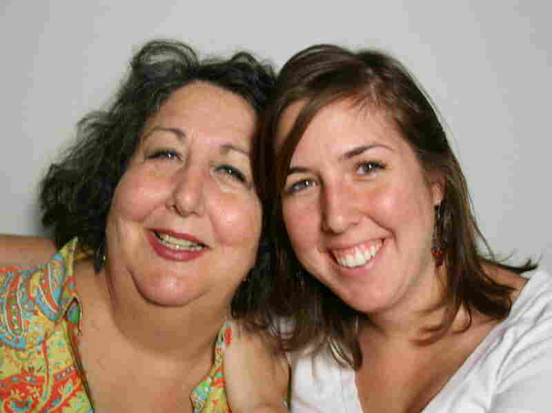 Laura Greenberg (left) and her daughter Rebecca chatted at StoryCorps in Atlanta.