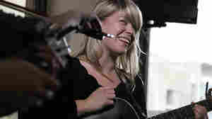 Basia Bulat performs a Tiny Desk Concert at the NPR Music offices on Sept. 27, 2010.