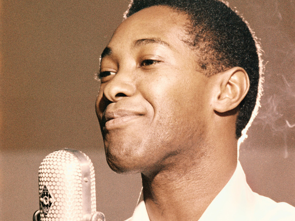 Sam Cooke in an RCA Recording Studio in Los Angeles, circa 1959.