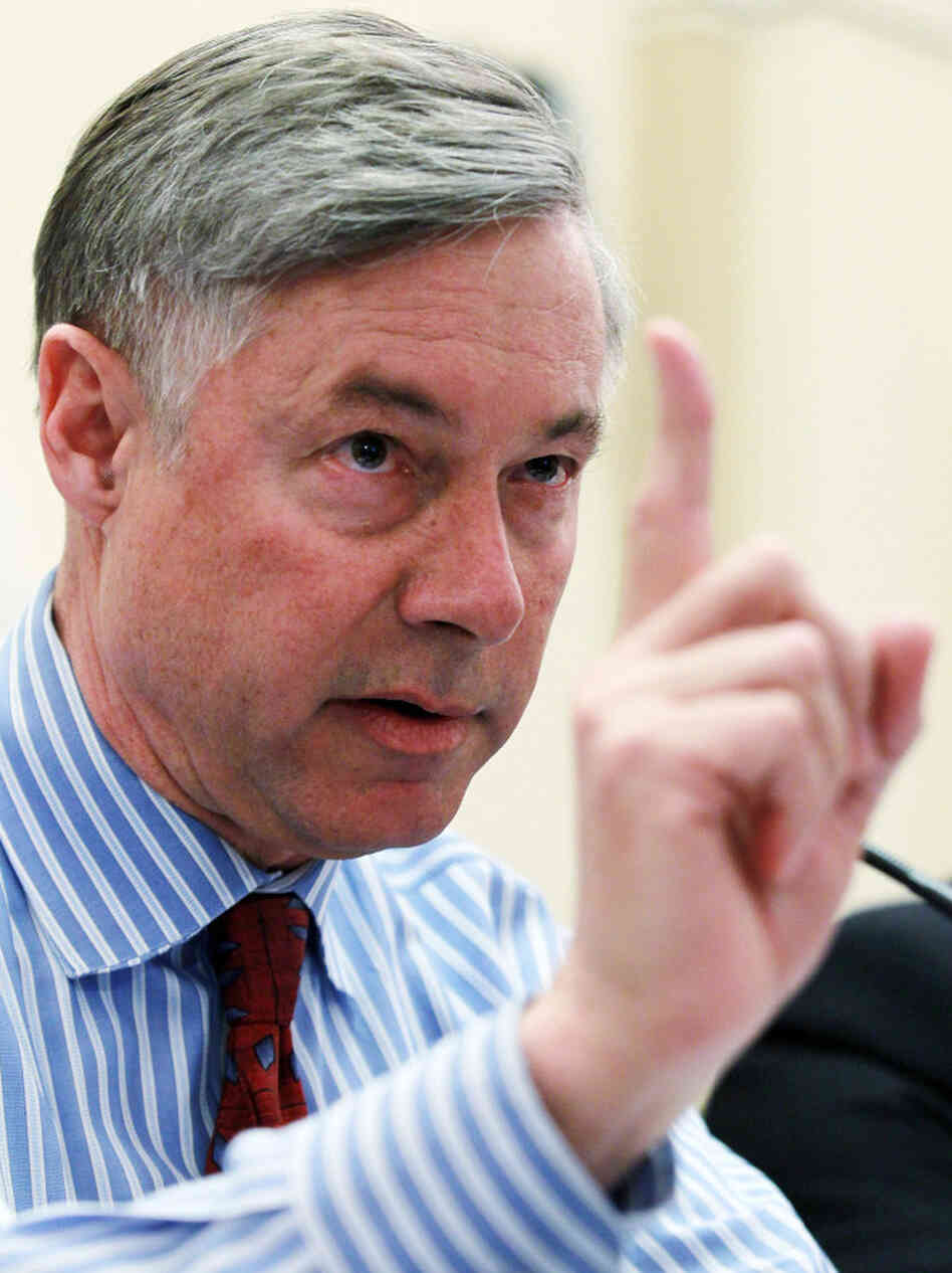 Rep. Fred Upton (R-MI) has some questions for the administration about health overhaul.