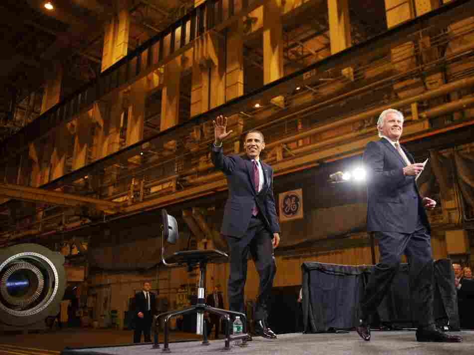 President Obama and GE CEO Jeffrey Immelt at a company plant in Schenectady, New York, Jan. 21. 2011.