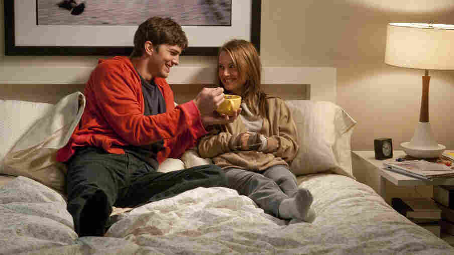 Snack Time: Adam (Ashton Kutcher) and his longtime  friend Emma (Natalie Portman) look to each other for their recommended  daily allowance of physical affection — but only one of them consciously  hopes for more.