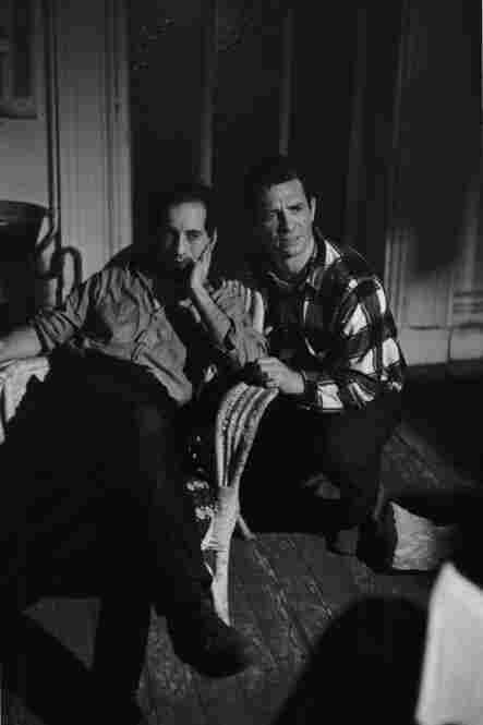 Robert Frank and Jack Kerouac on set of Pull My Daisy, 1959