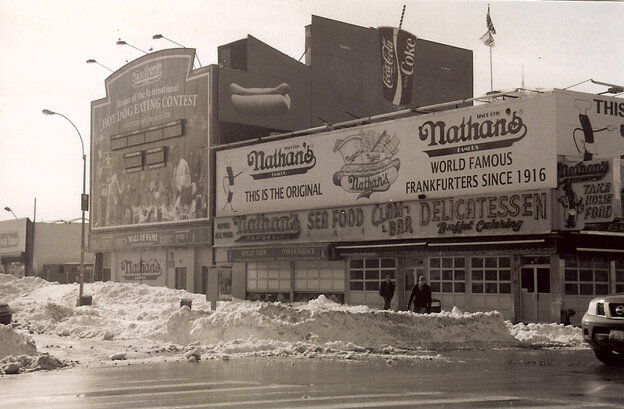 A photo of Coney Island taken after the the snowstorm.