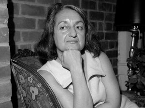 Betty Friedan, the late author of 'The Feminine Mystique,' is shown in her New York apartment May 25, 1970.