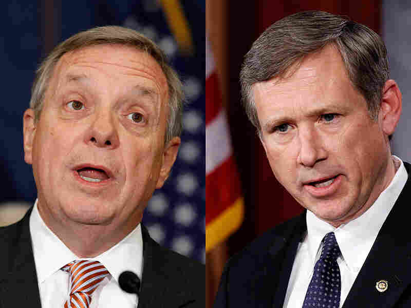 "One State of the Union ""couple"": Sen. Dick Durbin, the Democratic whip, and Republican Sen. Mark Kirk, both of Illinois."