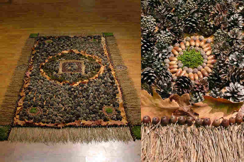 The carpet that started it all: Designers Stijn van der Vleuten and Marcia Nolte and visual artist Bob Waardenburg made their first carpet, a forest carpet, during a Dutch design exhibition in 2009.