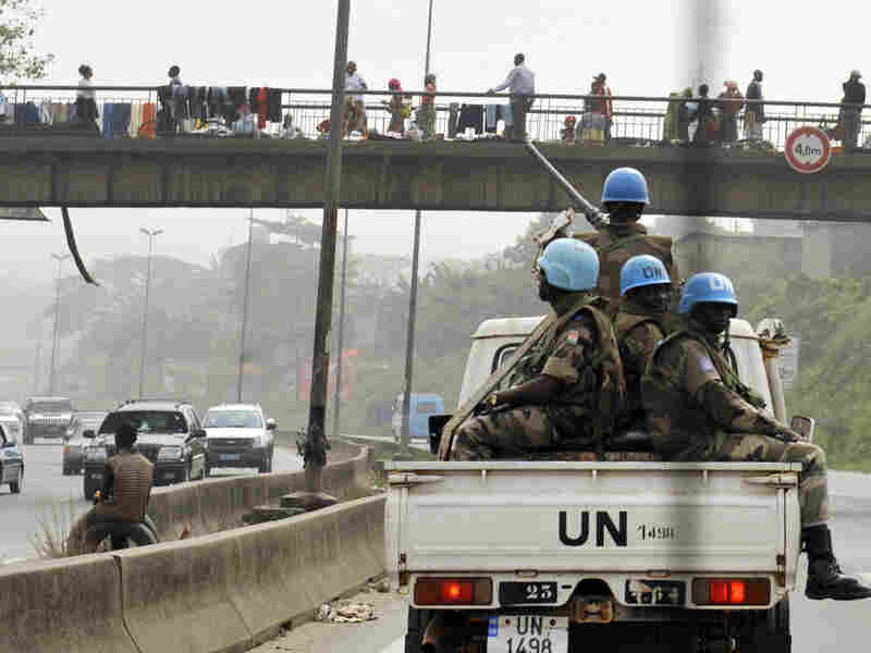 UN soldiers patrol the Abobo neighborhood of Abidjan, a district in the Ivory Coast.