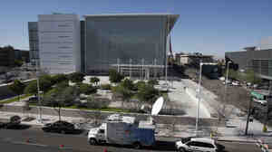 The Sandra Day O'Connor United States Courthouse in Phoenix, where Jared Loughner faced arraignment on Monday.
