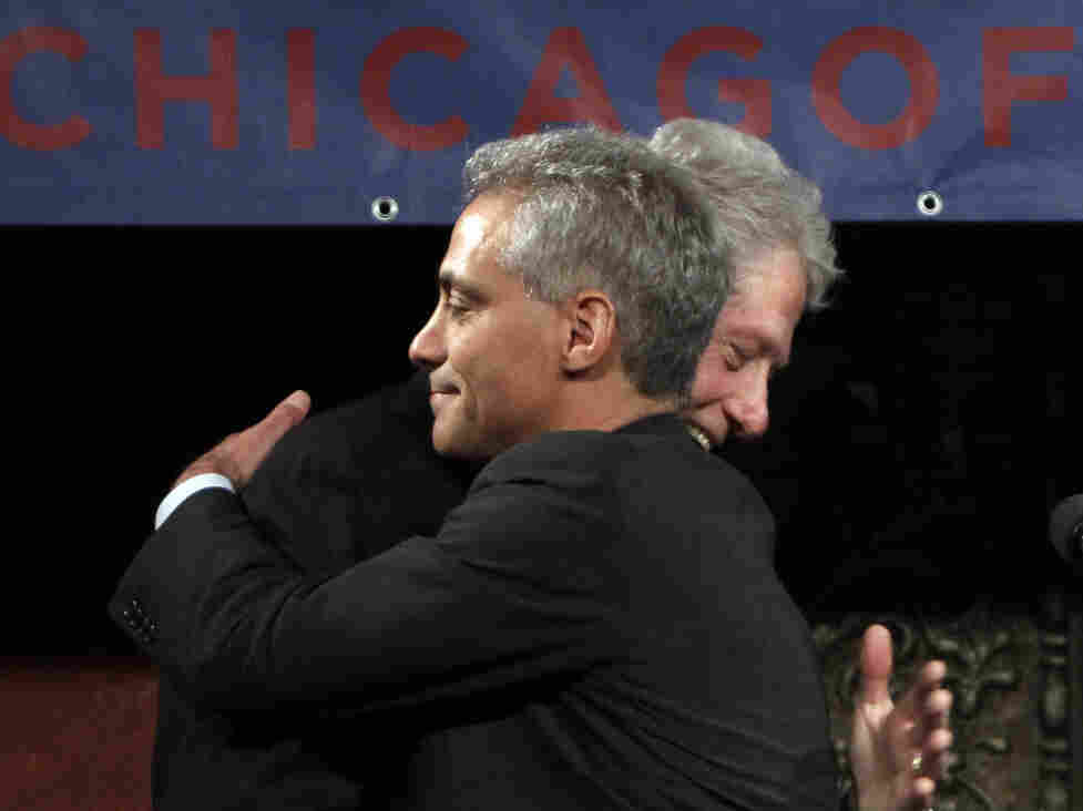 Former President Bill Clinton at a rally for would-be Chicago mayoral candidate Rahm Emanuel, Tuesday, Jan. 18, 2011.