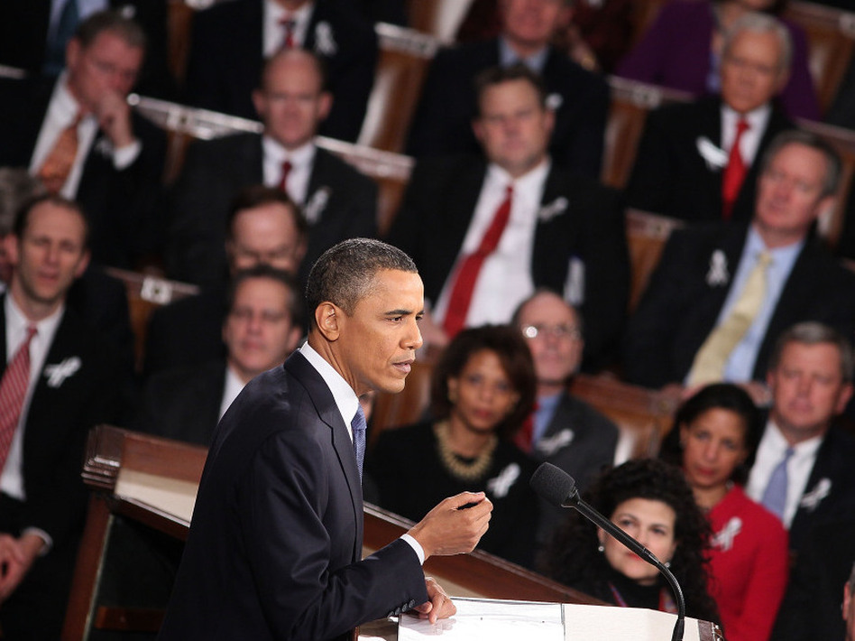 President Obama delivers his State of the Union address on Tuesday. (Brendan Smialowski/Getty Images)