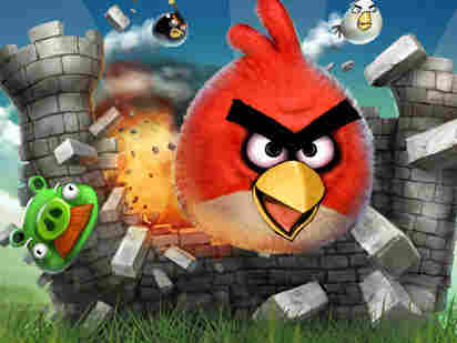 A screen shot of the digital game Angry Birds