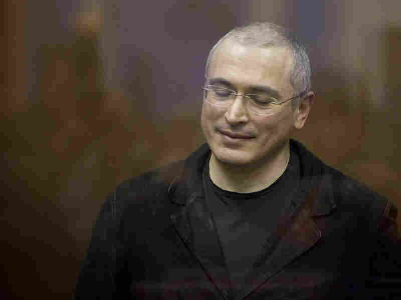 Jailed Russian oil tycoon Mikhail Khodorkovsky reacts after being sentenced on Dec. 30, 2010, to six more years in prison. Critics say the judicial system in the Khodorkovsky case worked just the way Prime Minister Vladimir Putin wanted it to.