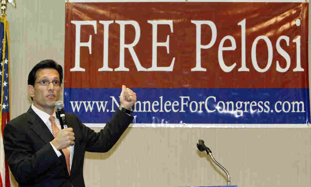 Could this 2010 photo of Rep. Eric Cantor have anything to do with Rep. Nancy Pelosi's tweet? Nahhh.