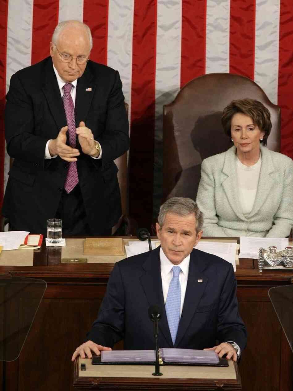As President George W. Bush delivered his State of the Union address in 2007, a classic partisan scene played out behind him. Vice President Dick Cheney stood and applauded, while House Speaker Nancy Pelosi sat still.