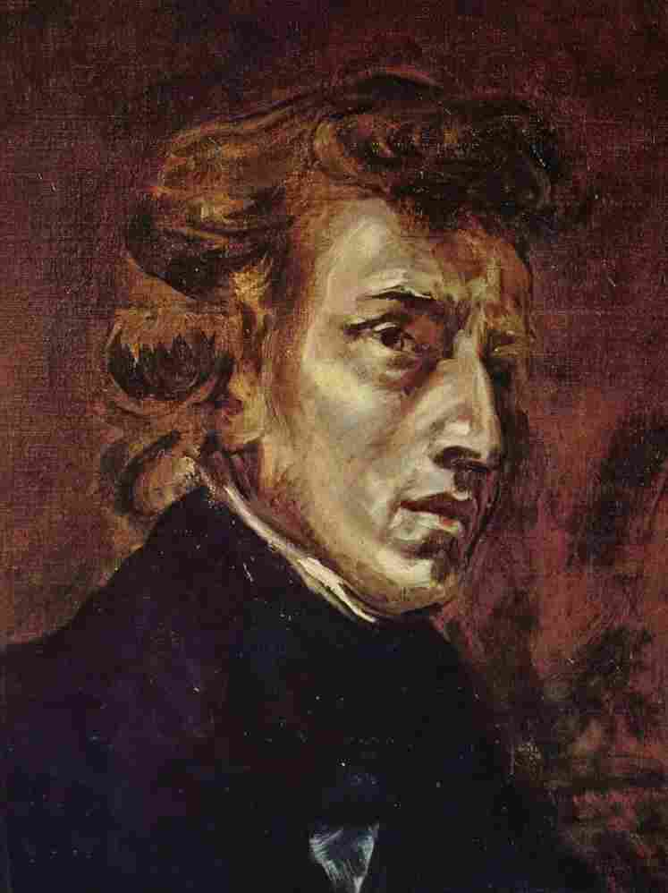 Frederic Chopin as portrayed in 1838 by Eugène Delacroix.