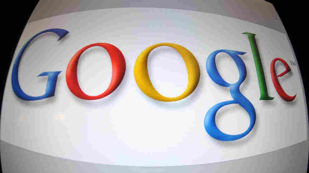 The Google logo on a computer screen.