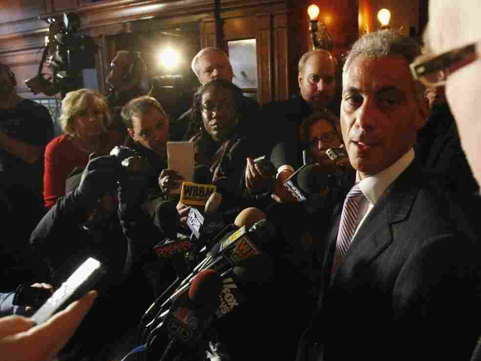 Rahm Emanuel at a Chicago news conference, Monday, Jan. 24, 2011.