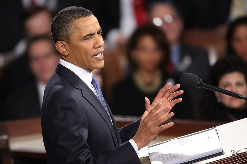 """""""The steps we've taken over the last two years may have broken the back of this recession,"""" Obama says, """"but to win the future, we'll need to take on challenges that have been decades in the making.""""  (Getty Images)"""