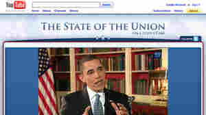 In this screen capture, President Obama is seen live on the White House YouTube channel answering video and text questions on Feb. 1, 2010, after last year's State of the Union.