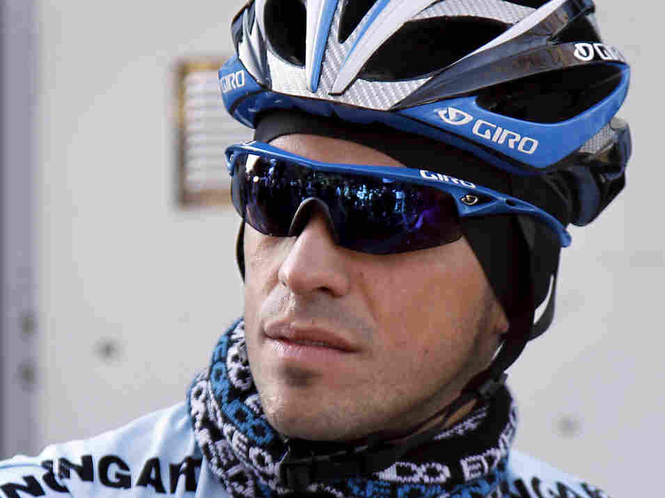 Alberto Contador just before a training session on Tuesday in Mallorca.