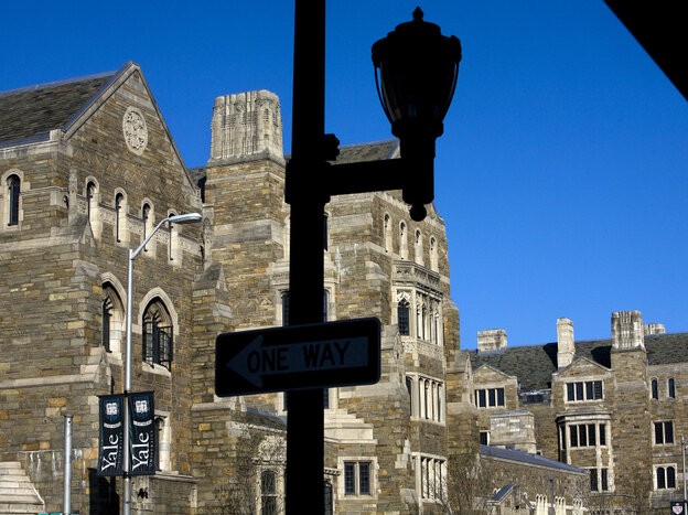 Buildings on the Yale University campus.