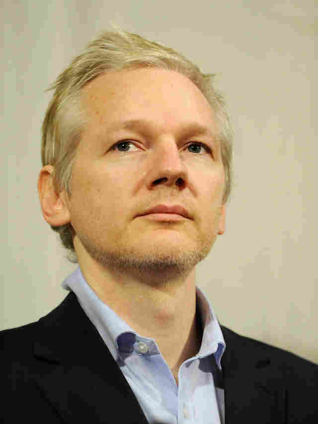 WikiLeaks founder Julian Assange, shown at a Jan. 17 news conference in London, says he thinks Manning is being pressured to say Assange encouraged him to steal secret government files.