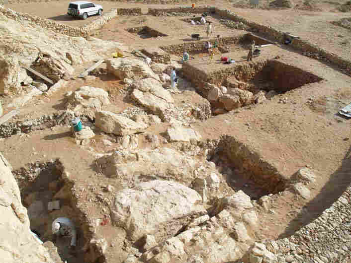 The Jebel Faya site in the United Arab Emirates, where the tools were found.