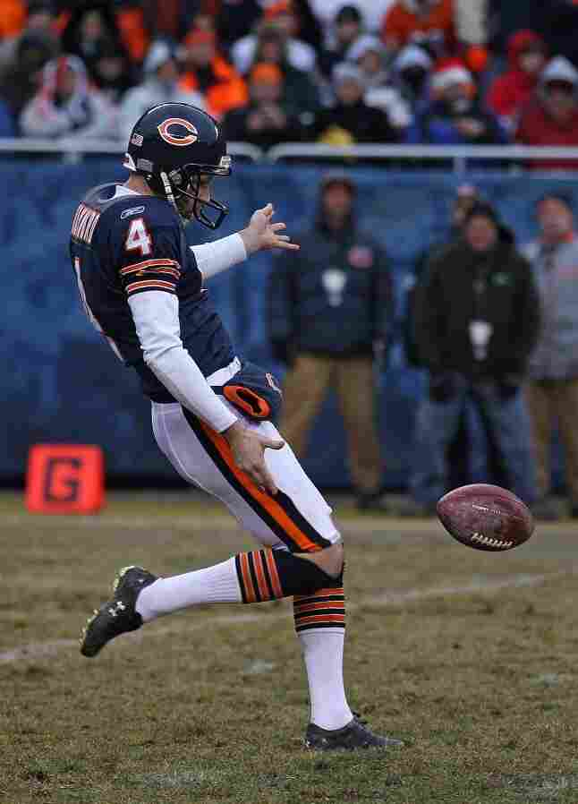 Brad Maynard of the Chicago Bears punts the ball against the New York Jets on Dec. 26 at Soldier Field in Chicago.
