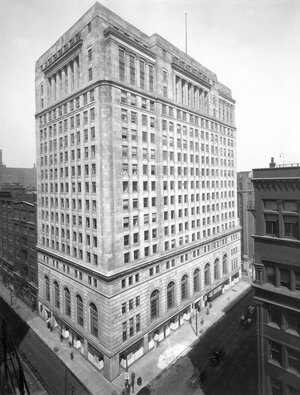 The Mercantile Exchange building in Chicago in 1929.