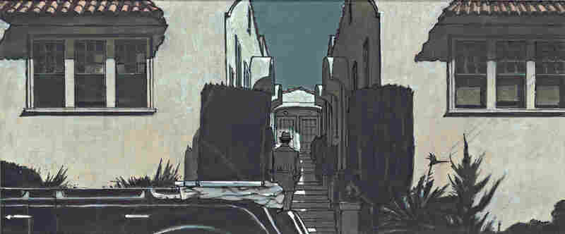 The absence of water was the visual motif for Chinatown, a 1974 film about the battle for water rights in drought-stricken Los Angeles. Above, a sketch by production designer Richard Sylbert and illustrator W. Stewart Campbell.