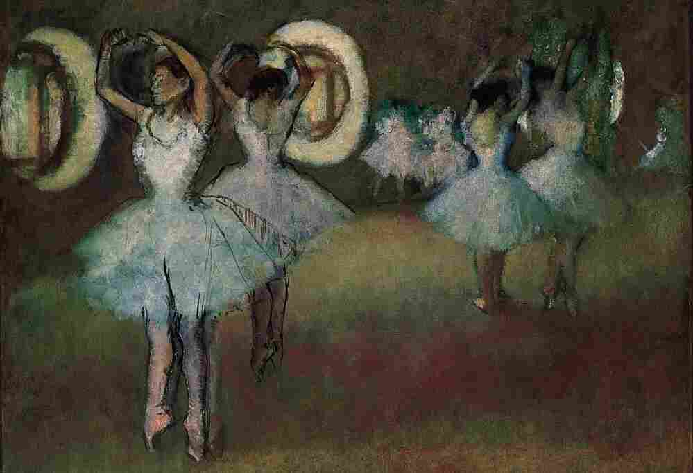 Dancers in the Rotunda at  the Paris Opera,  1895, by Edgar Degas