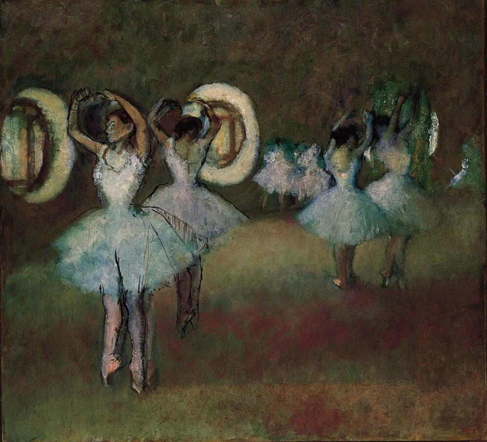Dancers in the Rotunda at  the Paris Opera,  1895, by Edgar Degas