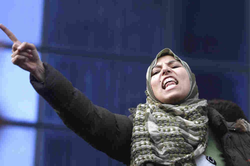 A demonstrator in Cairo on Thursday demanding the ouster of President Hosni Mubarak.