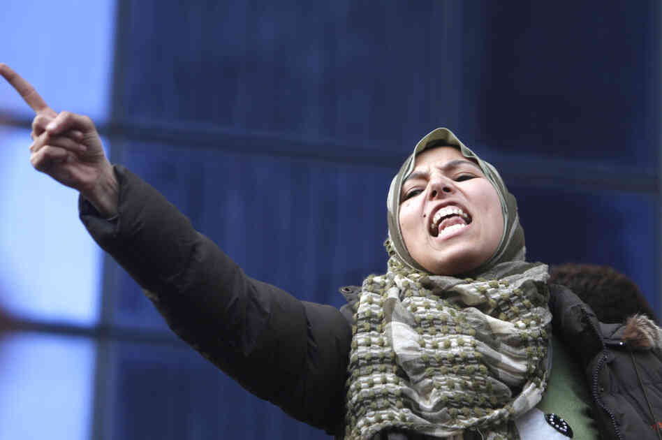 A demonstrator in Cairo on Thursday demanding the ouster of President Hosni Mubarak.
