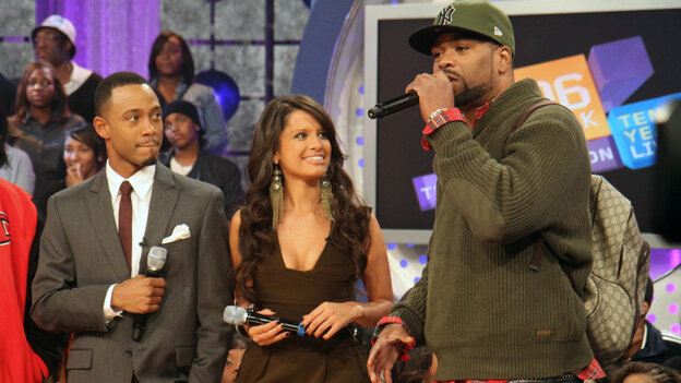 Terrence and Rocsi with Method Man taping 106 and Park's 10th anniversary show in October.