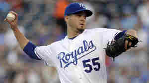 Kansas City Royals pitcher Gil Meche during the first inning of a baseball game against the Minnesota Twins, on April 23, 2010.